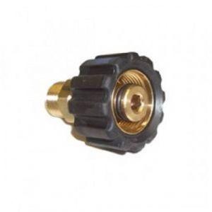 "M22/14mm Female X 3/8"" BSP Male Pressure Washer Screw Coupling"